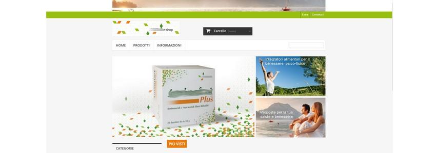 sito web tecnico di e-commerce per azienda farmaceutica