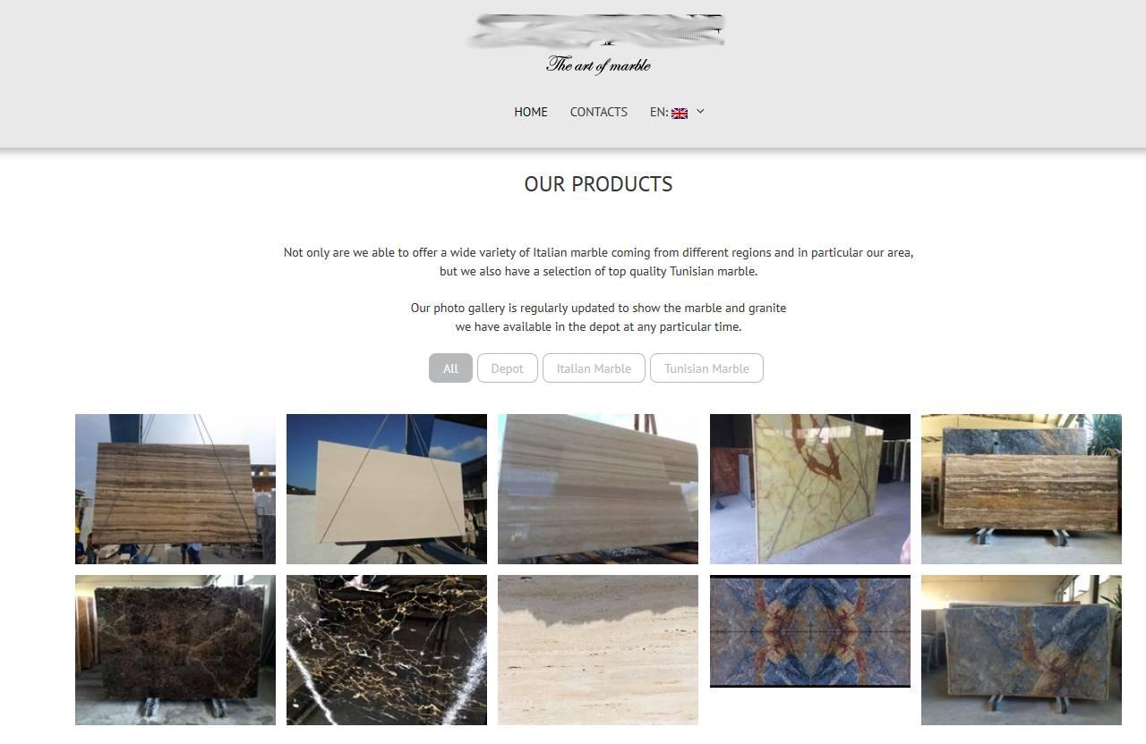 sito di presentazione azienda e prodotti