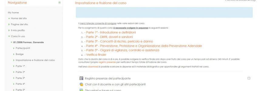 scs web factory sito tecnico avandato portale di elearning
