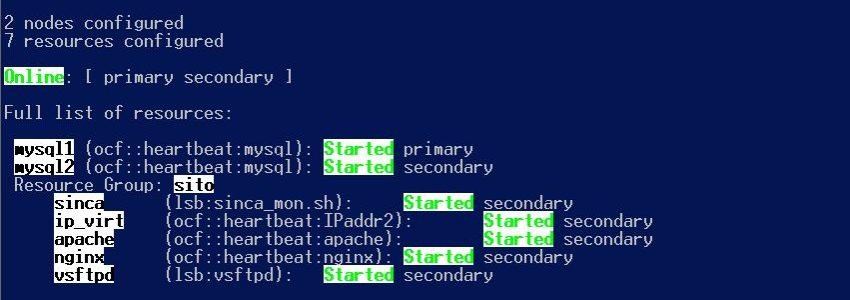 sistema di HA di cluster server web