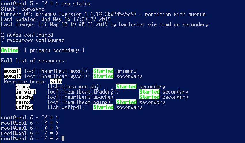 Configurazione sistema di HA per server web virtuali