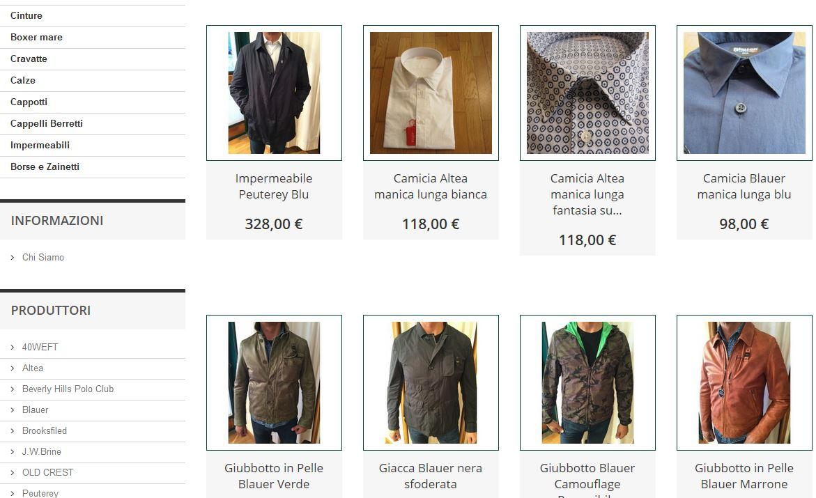 sistema di ecommerce per negozio abbigliamento